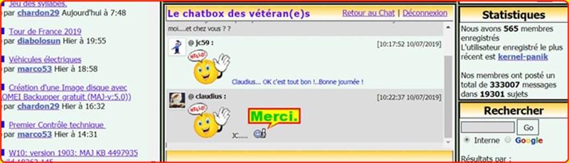 """Chatbox...ouverture sur """"Archives"""" 1209"""