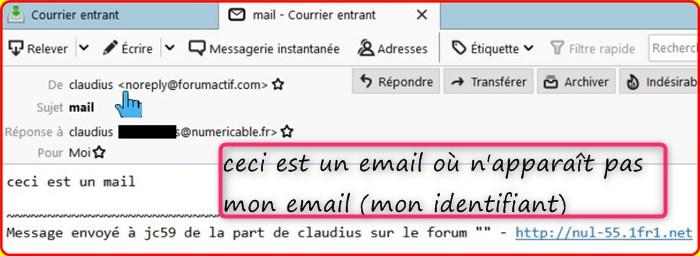 Mon Email apparaît dans les MP Mail10