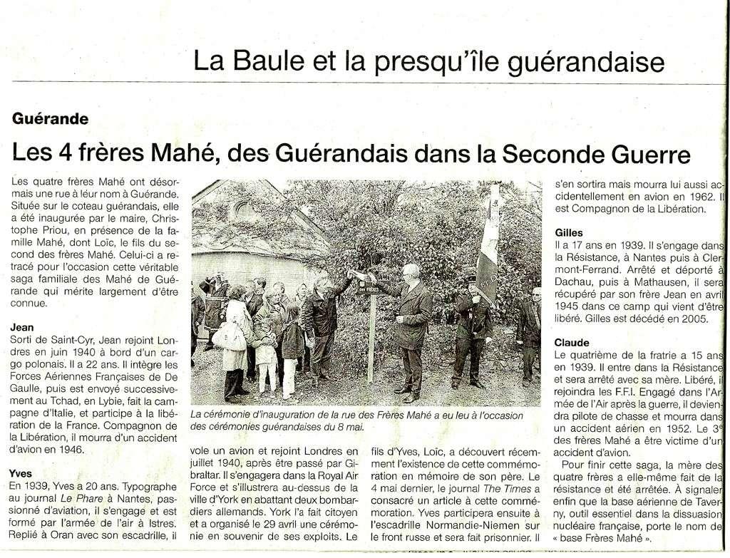 Inauguration de la rue des frères Mahé à Guérande Les_4_11
