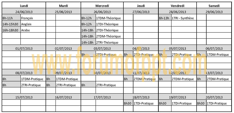 examens - Planning de Examens 2013 ISTA NTIC Planni10