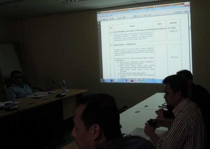 Mesyuarat Jawatankuasa Keselamatan dan Kesihatan Pekerjaan (JKKP) Bil 2/2013, JPS Sabah 710