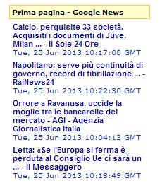 Widget per inserire notizie Google News nel proprio sito - Topdeskle Hthetj10