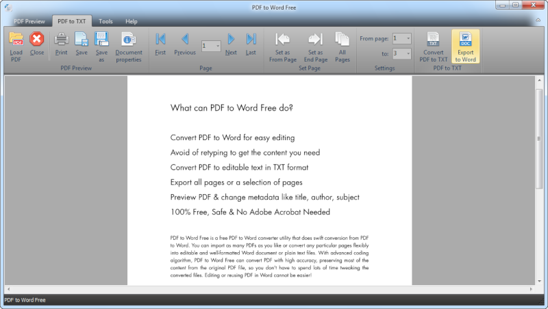 Convertire da PDF a Word o file di testo gratuitamente - 100% Free PDF to Word Converter Software Top_0110