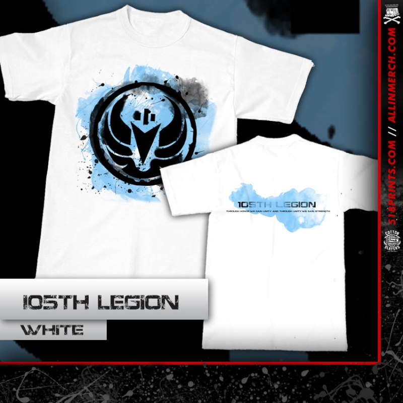105th Legion T-shirt White 105th_11