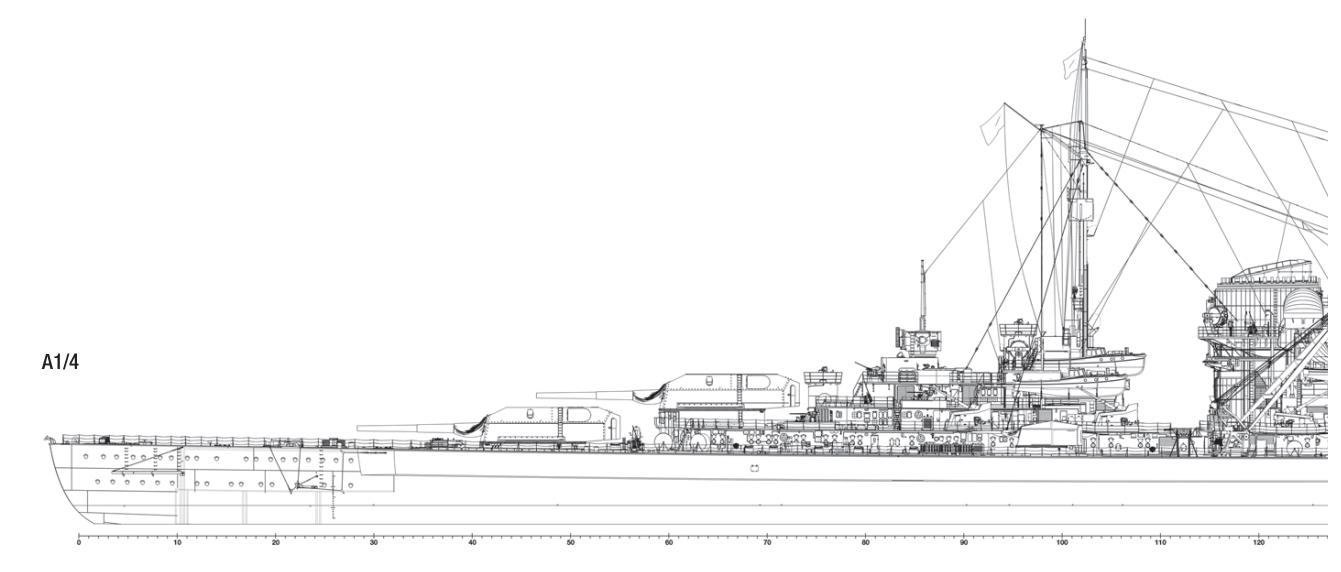 Cuirassé Bismarck au 1/200 - Trumpeter Screen20