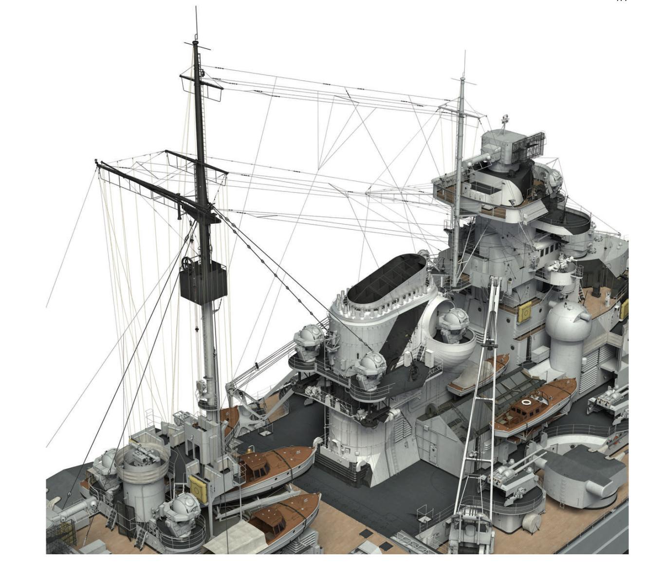 Cuirassé Bismarck au 1/200 - Trumpeter Screen27