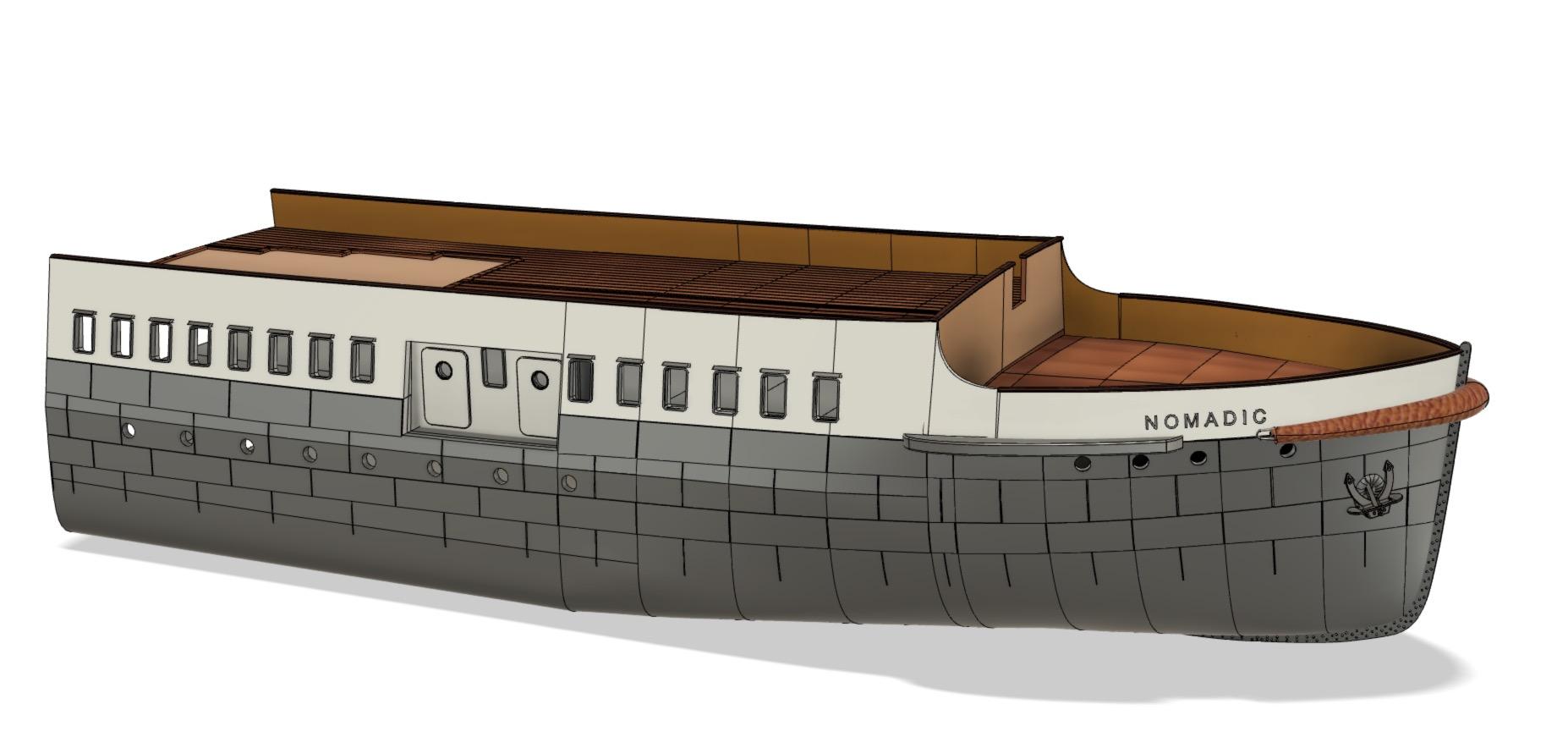 SS Nomadic - Le petit frère du Titanic - 1/200 - 3D [Conception] Screen36