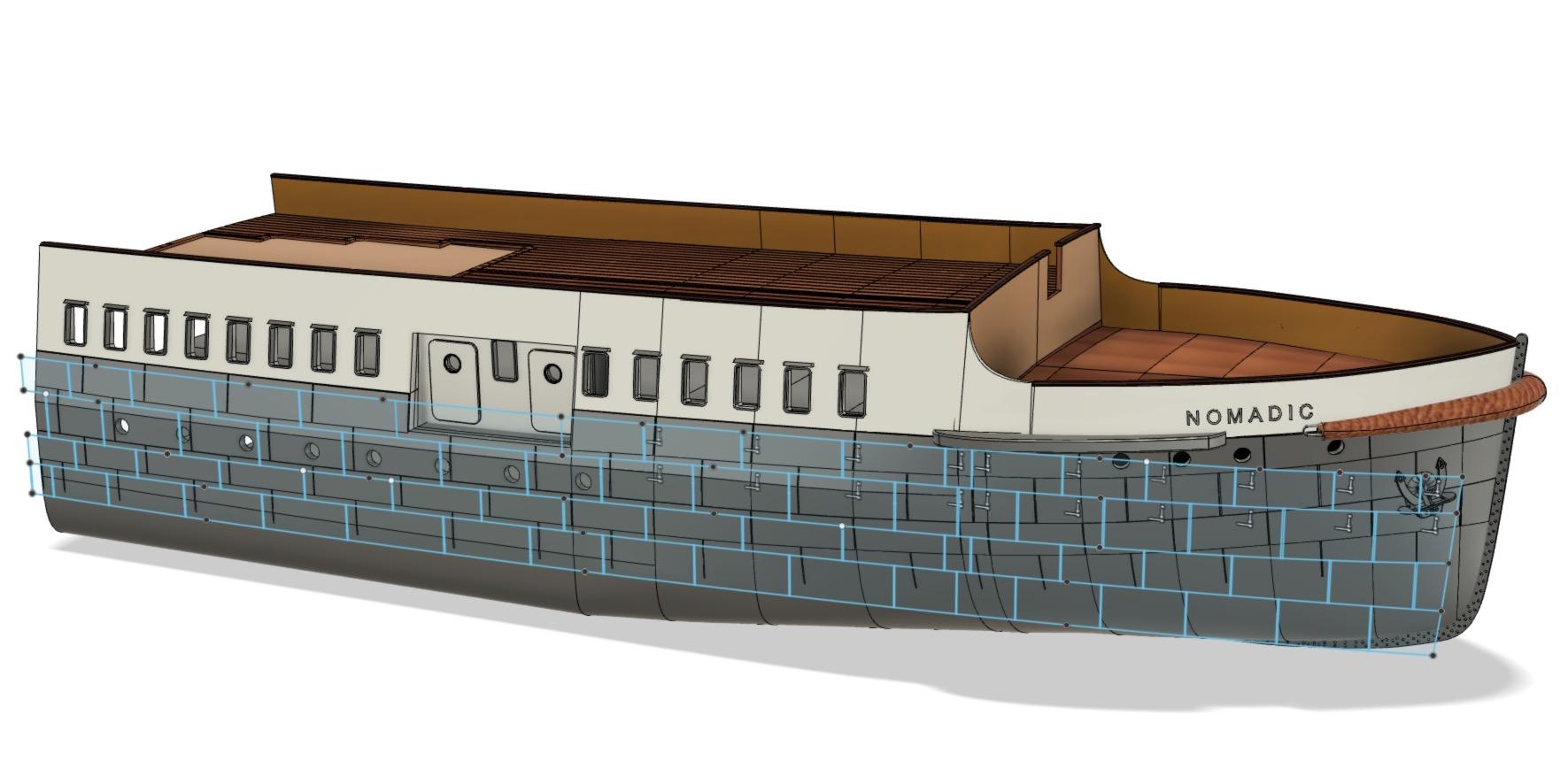 SS Nomadic - Le petit frère du Titanic - 1/200 - 3D [Conception] Screen37