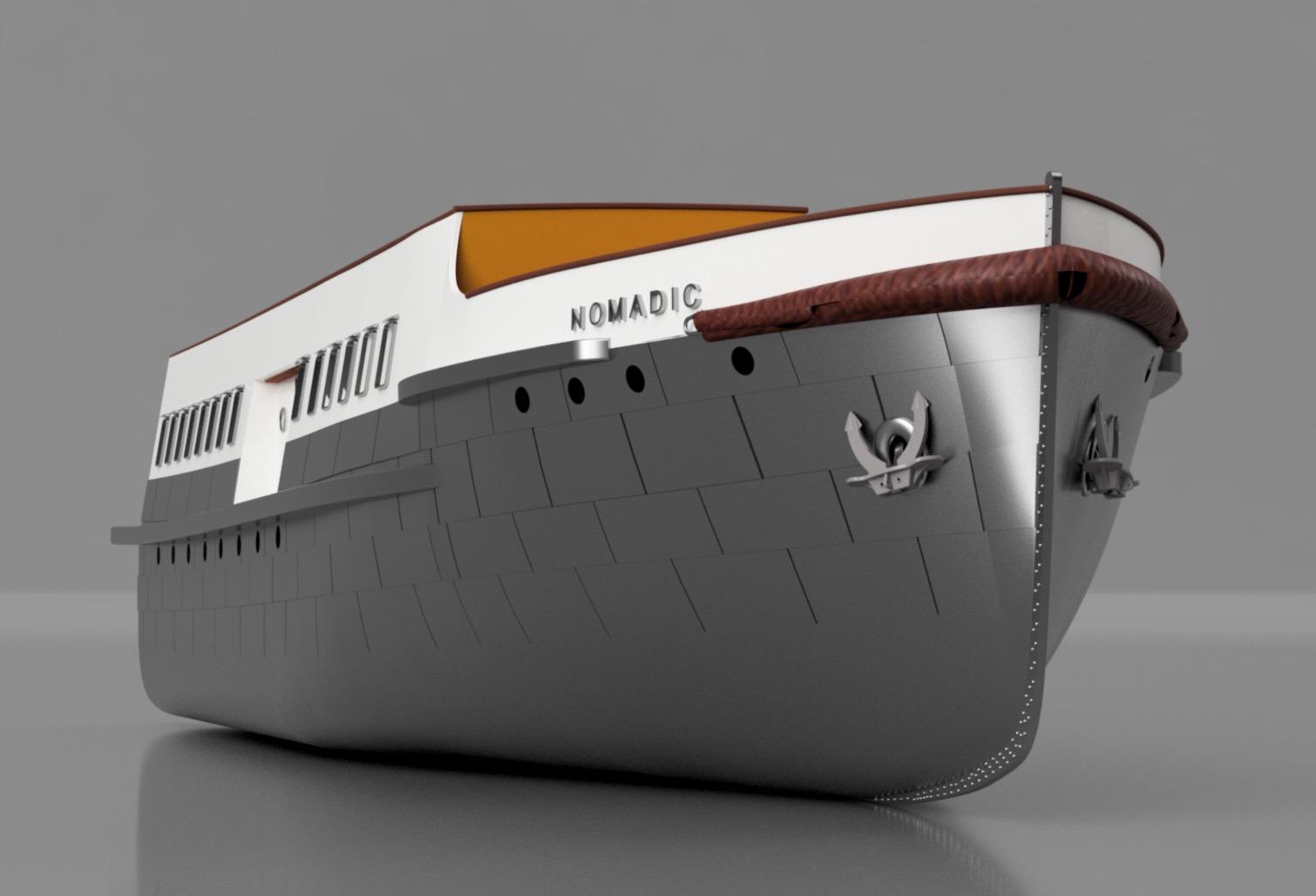 SS Nomadic - Le petit frère du Titanic - 1/200 - 3D [Conception] Screen38
