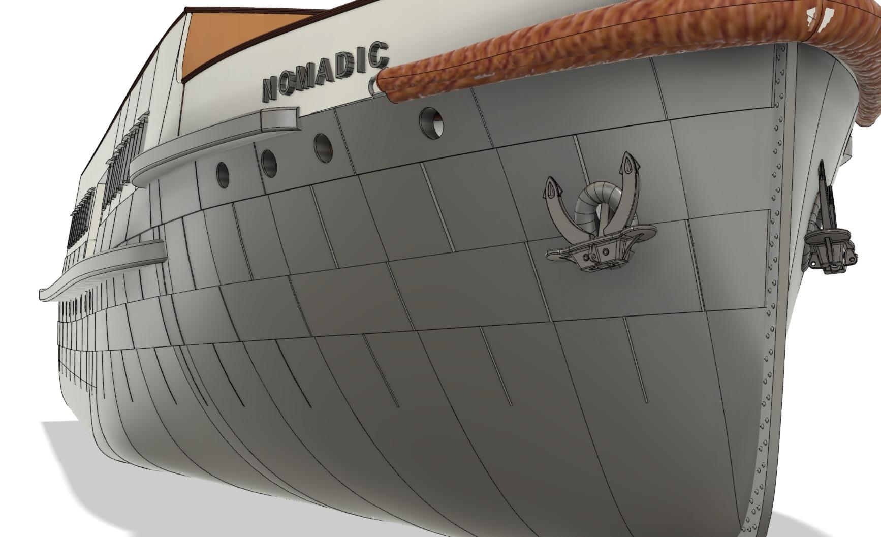 SS Nomadic - Le petit frère du Titanic - 1/200 - 3D [Conception] Screen39