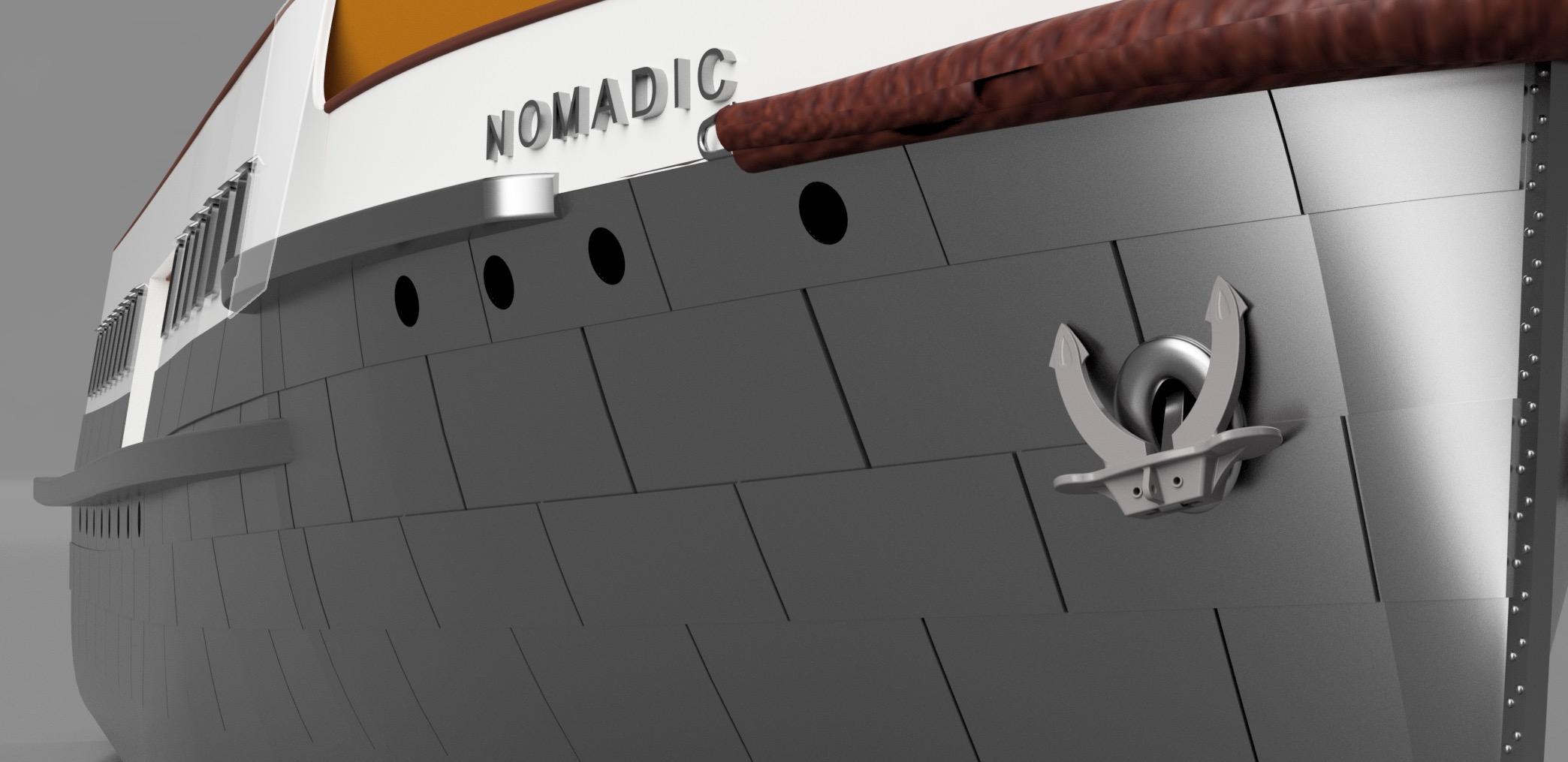 SS Nomadic - Le petit frère du Titanic - 1/200 - 3D [Conception] Screen40