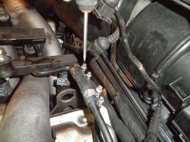 demontage haut moteur pour rampe de graissage Demont29