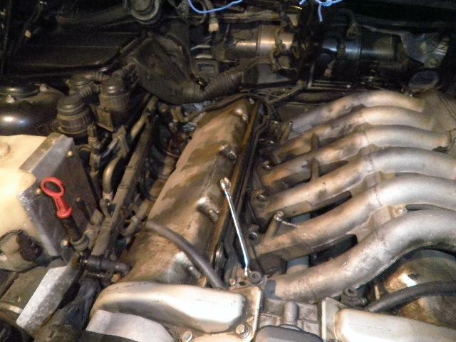 demontage haut moteur pour rampe de graissage Demont35