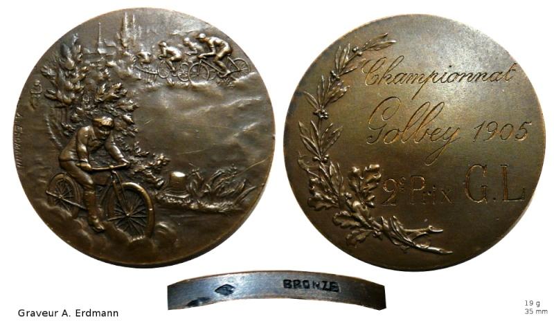 Médaille sport cycliste Medail10