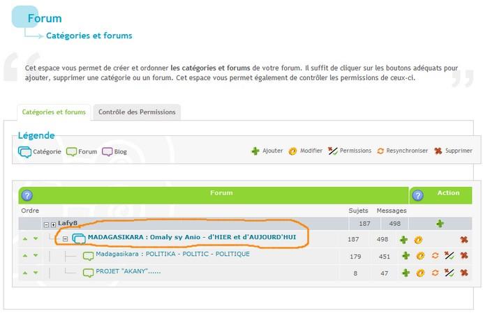 Comment enlever la categorie, sans effacer le forum ? Foruma10
