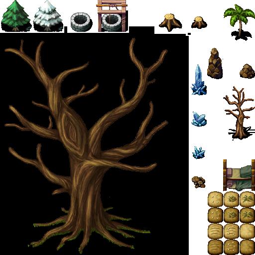 Tileset extérieur (arbres, ruines etc...) Celian10