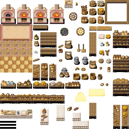 Tileset intérieur (boulangerie, château, école, etc...) Celian16