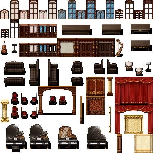 Tileset intérieur (boulangerie, château, école, etc...) Celian17