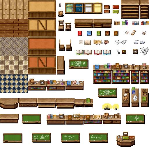 Tileset intérieur (boulangerie, château, école, etc...) Celian18