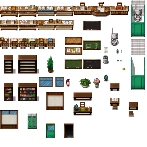 Tileset intérieur (boulangerie, château, école, etc...) Celian19