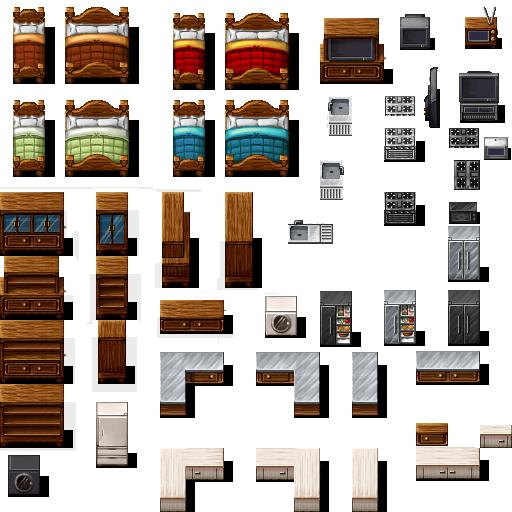 Tileset intérieur (boulangerie, château, école, etc...) Celian23