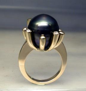 Bague Or Jaune Perle de Tahiti et Diamants Dscn2112