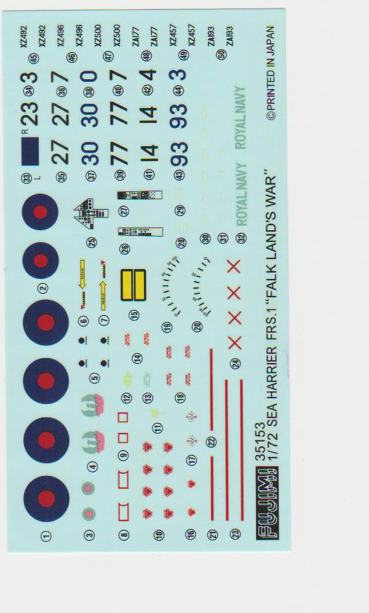 hawker sea harrier fujimi Decals10