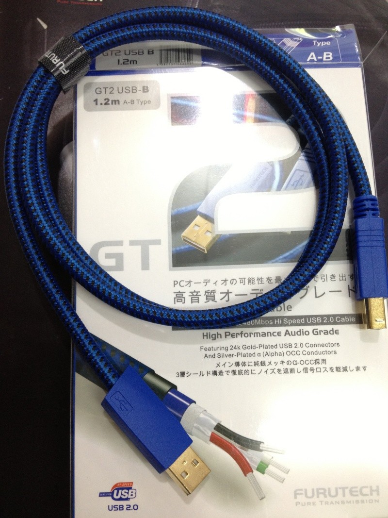 Furutech GT-2/GT-2PRO USB A to B /miniB Cable(New) Img_2210