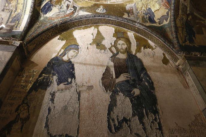 Turquie : incertitude sur le sort des fresques de l'ancienne église byzantine Saint-Sauveur-in-Chora transformée en mosquée F317e110