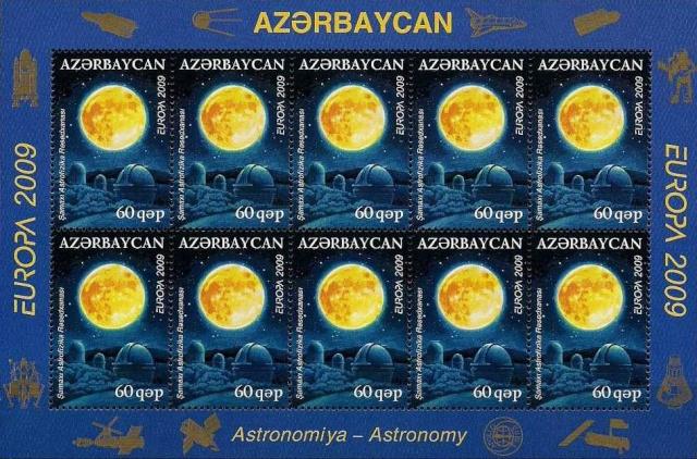 Historique de la philatélie spatiale de la République d'Azerbaïdjan 2009_a12
