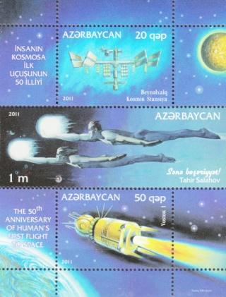 Historique de la philatélie spatiale de la République d'Azerbaïdjan 2011_a10