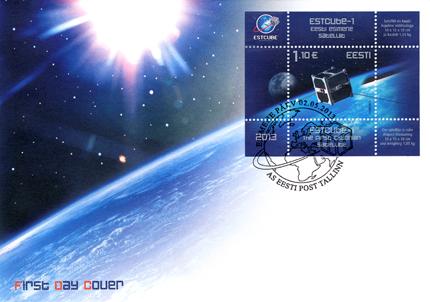 2013 - Emission d'un bloc pour le premier satellite de l'Estonie 539_es10