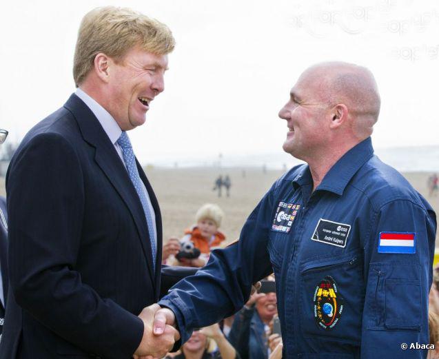 André Kuipers et la cérémonie d'investiture du nouveau roi des Pays-Bas Guillaume IV 92572010