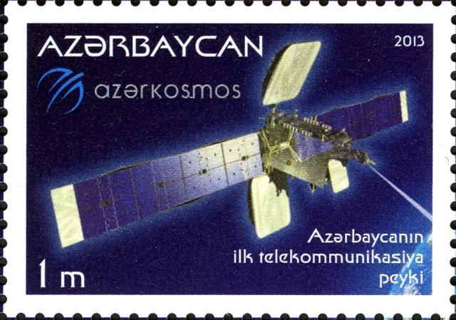 2013 - Emission d'un bloc pour le premier satellite de télécommunications de l'Azerbaïdjan Azerb_11
