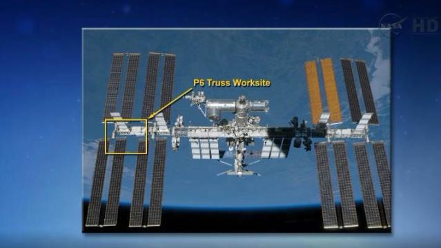 Fuite d'ammoniac à bord de la Station Spatiale Internationale - Segment P6 Eva1710