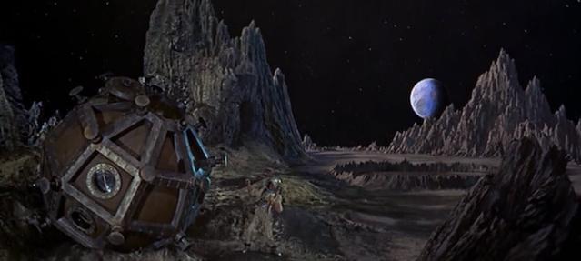 Cinéma - Les Premiers Hommes dans la Lune (1964) - Effets spéciaux de Ray Harryhausen Firstm10