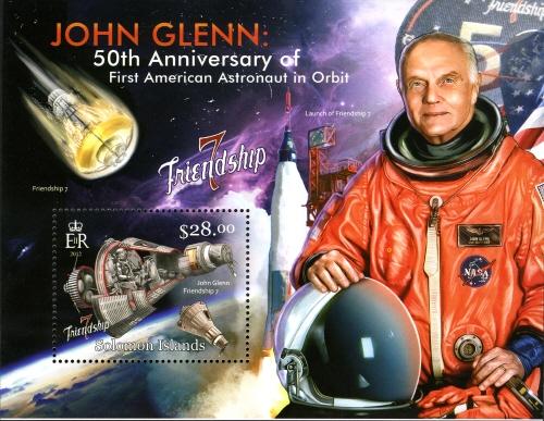 2013 - Série commémorative Friendship 7 et John Glenn par les Iles Salomon Glenn_11