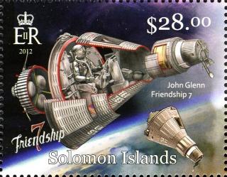 2013 - Série commémorative Friendship 7 et John Glenn par les Iles Salomon Glenn_12