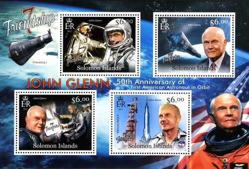 2013 - Série commémorative Friendship 7 et John Glenn par les Iles Salomon Glenn_13