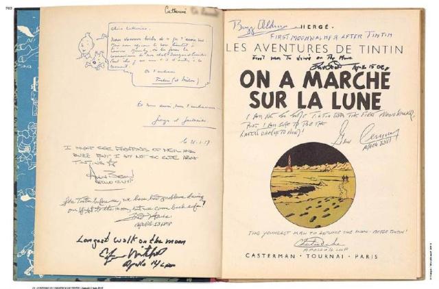 Vente Artucrial 7 et 8 juin 2013 - Tintin et autographes Moonwalkers Tintin10