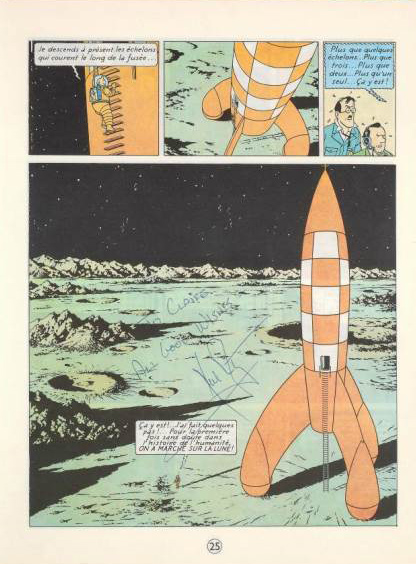 Vente Artucrial 7 et 8 juin 2013 - Tintin et autographes Moonwalkers Tintin11