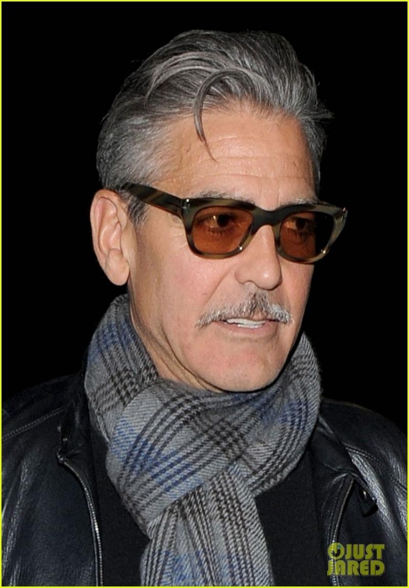 George Clooney eating alone in London  George16