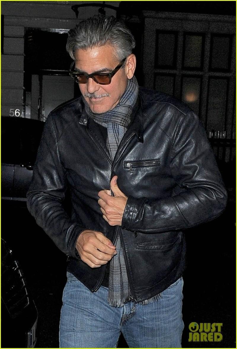 George Clooney eating alone in London  George17