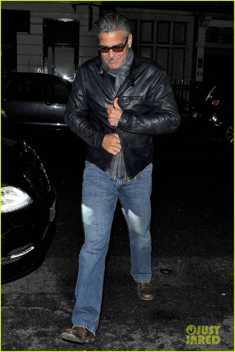 George Clooney eating alone in London  George19
