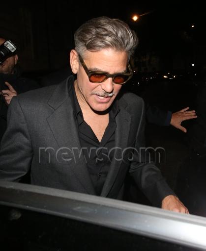 Photos: George Clooney leaving Lolou nightclub,  London.  Did Monica Jakisic follow him home? Imgwat14