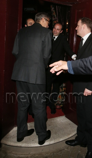 Photos: George Clooney leaving Lolou nightclub,  London.  Did Monica Jakisic follow him home? Imgwat15