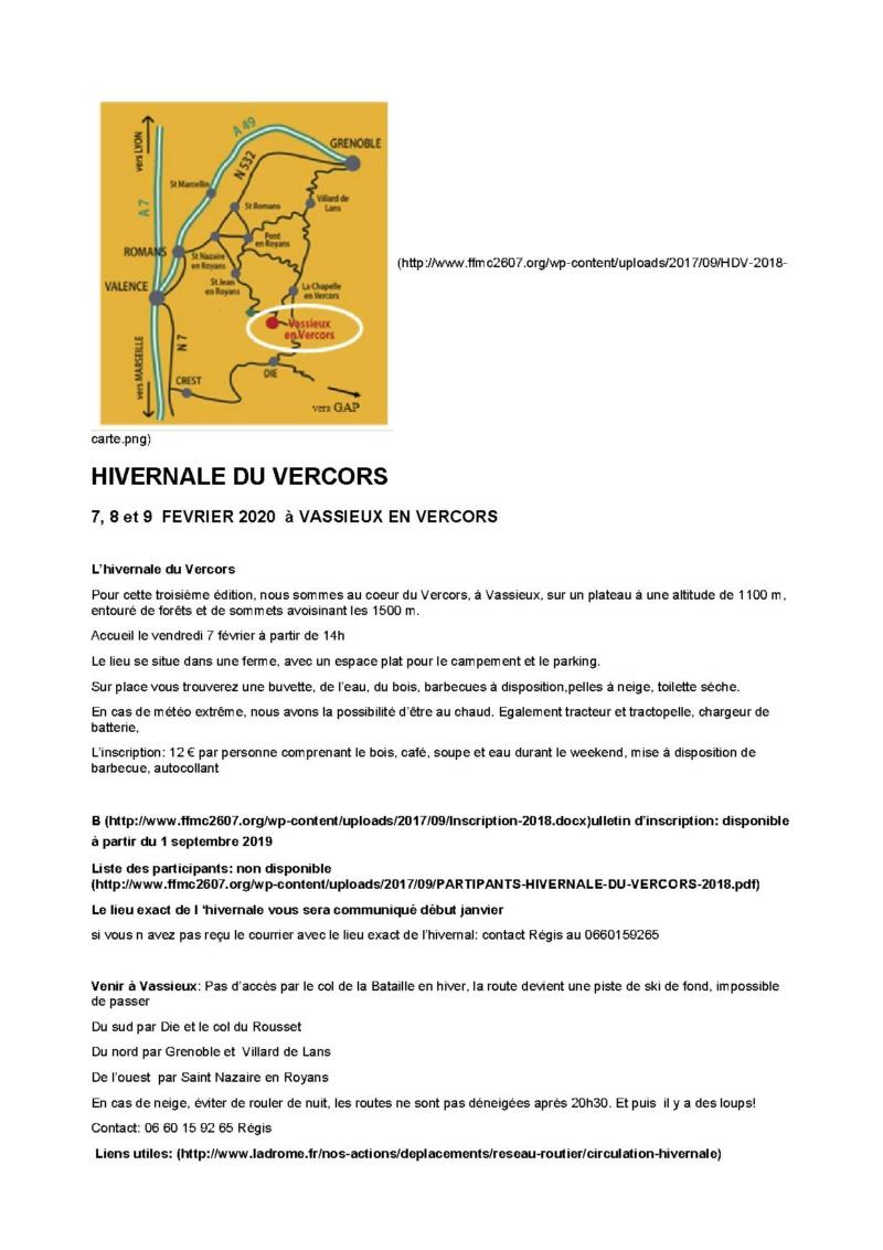 HIVERNALE DU VERCORS - VASSIEUX EN VERCORS (26 )  les 7 ,8 et 9  FEVRIER 2020 Hivern10