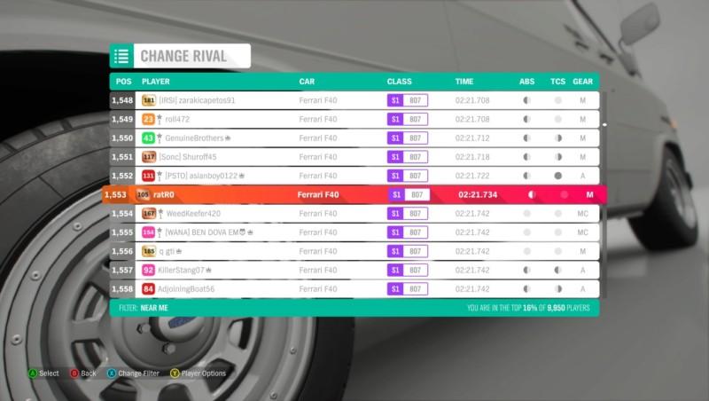 FH4 Time Attack | Road Racing Rivals | Ferrari F40 - Cotswolds Super Sprint 20181014