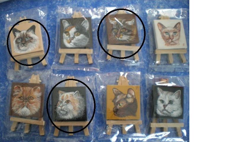 Collection d'objet sur le thème chat Cadres10