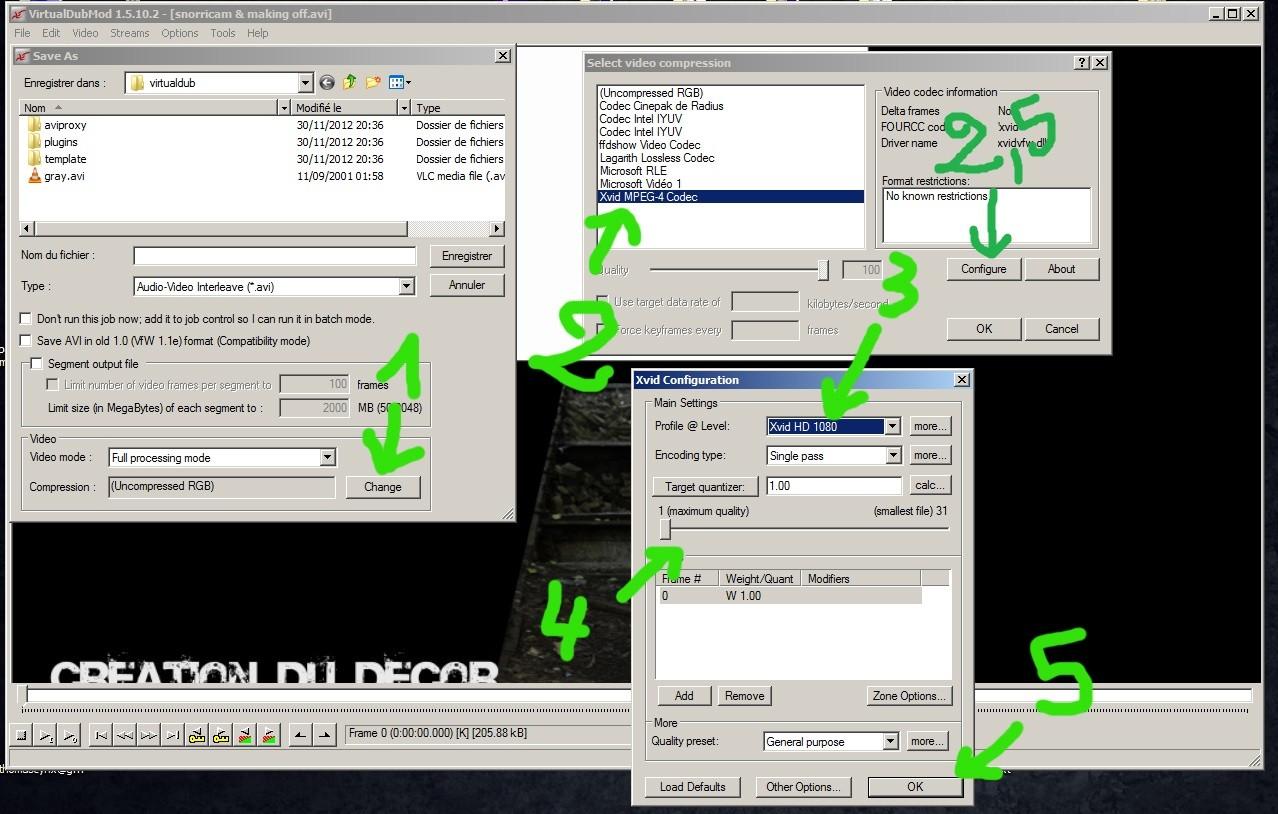 (Encodage) Qualité de vidéo, encoder en HD avec Xvid 16507111